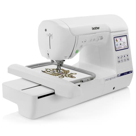 """Brother SE1900 Sewing and Embroidery Machine w/ 5"""" x 7"""" Hoop + Zigzag Foot + Monogramming Foot + Overcasting Foot + More"""