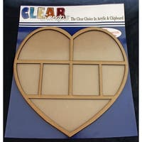 "Clear Scraps Printer Tray Frames 12""X12""-Heart"