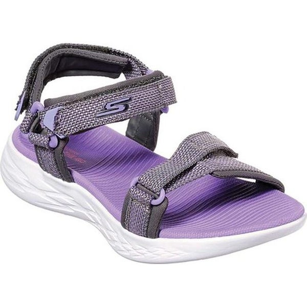 72834ceb0f12 Shop Skechers Girls  On the GO 600 Lil Radiance River Sandal Gray Lavender  - On Sale - Free Shipping On Orders Over  45 - Overstock - 27188157