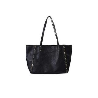 Inc International Concepts Black Gold-Stud Tcrema Tote Bag OS