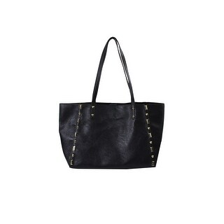 Inc International Concepts Black Gold-Stud Tcrema Tote Bag OS