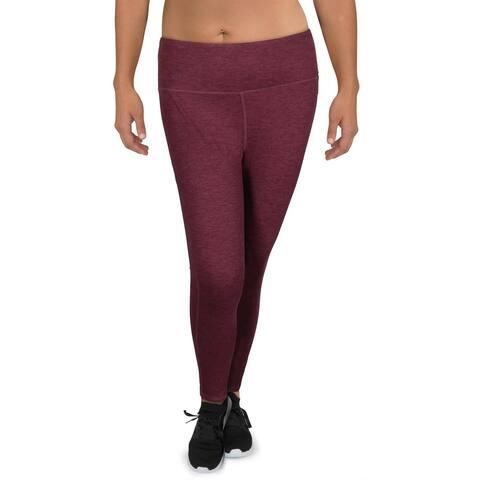 Gaiam Womens Athletic Leggings High-Rise Fis - Winetasting Heather - XL