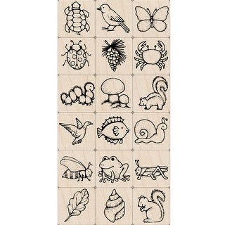 Ink 'n' Stamp Nature Stamps, Set of 18 - One Size