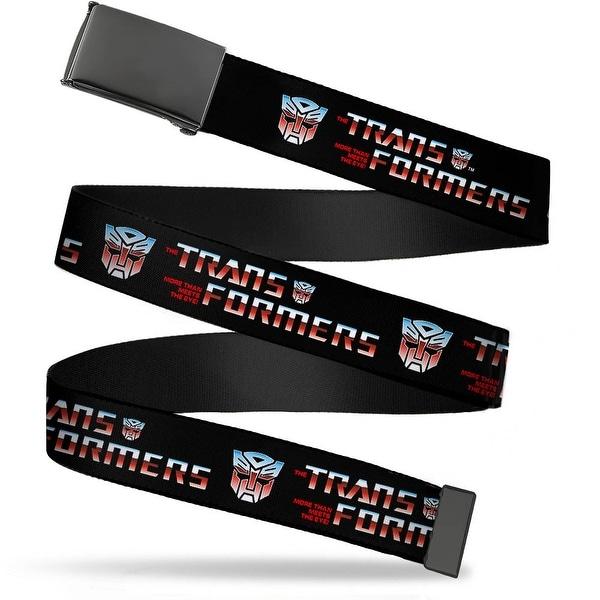 Blank Black Buckle Transformers Logo Autobot Black Blue Red Fade Web Belt