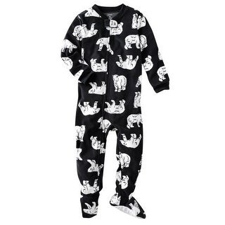 Carter's Little Boys' 1-piece Micro-fleece Pajamas (Youth 4, Polar Bear)