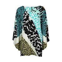Alfani Women's Safari Color Block Jersey Tunic Blouse - Multi