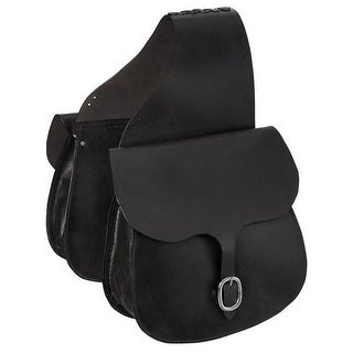 Tough-1 Saddle Bag Large Premium Quality Skirting Leather