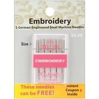 Size 14/90 5/Pkg - Klasse Embroidery Machine Needles