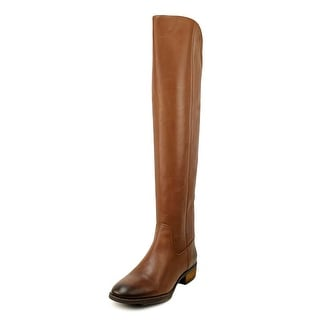Sole Society Andie Women Round Toe Leather Brown Over the Knee Boot