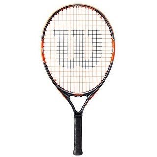 Wilson Unisex Burn Team 21 Tennis Racket, Black/Orange, 3 1/2