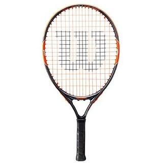 Wilson Unisex Burn Team 21 Tennis Racket, Black/Orange, 3 1/2