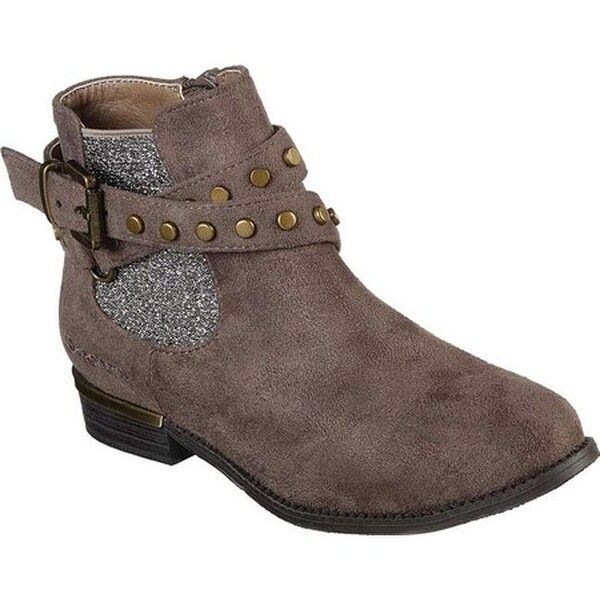 3ec63fd1ff Skechers Girls' Mad Sass Sparkle Bandit Ankle Boot Taupe