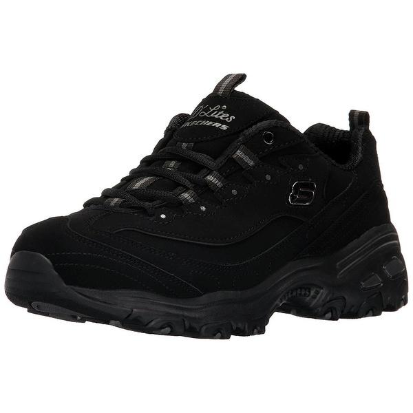 Memory Foam Lace-Up Sneaker, Black
