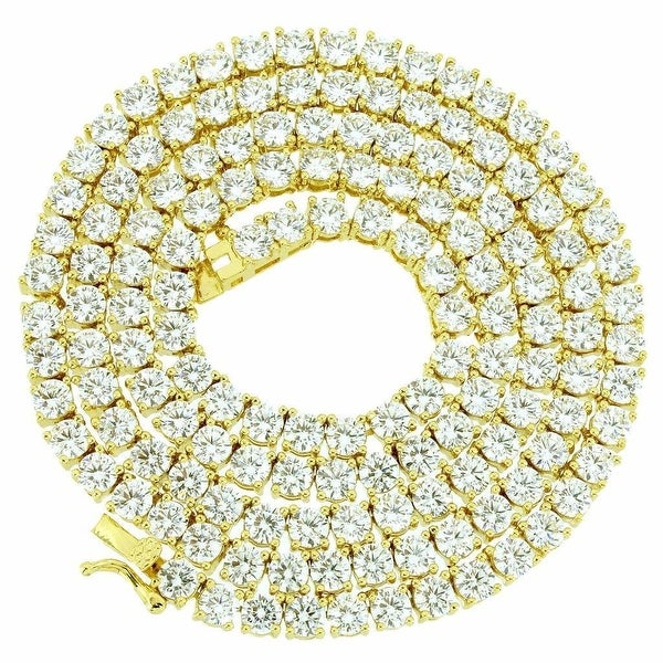 """New 22"""" Iced Out 1 Row Lab Diamond Tennis Chain Hip Hop Bling Necklace 3MM"""