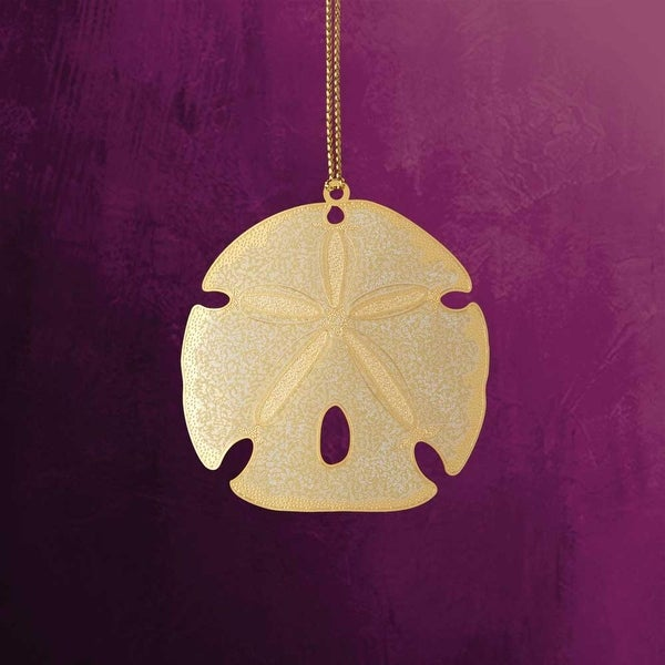 "ChemArt 2.5"" Collectible Keepsakes Sand Dollar Christmas Ornament"