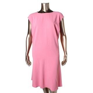 Lauren Ralph Lauren Womens Plus Tunic Dress Chiffon Ruffle Hem