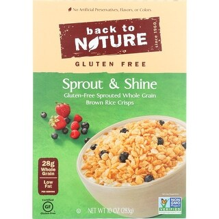 Back To Nature Cereal - Sprout and Shine - Case of 6 - 10 oz.