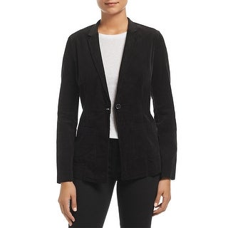 Link to Three Dots Womens One-Button Blazer Corduroy Office - Black Similar Items in Suits & Suit Separates