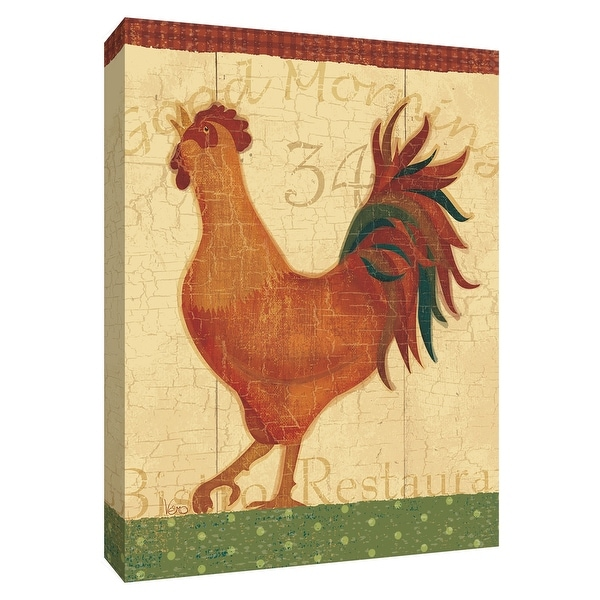 """PTM Images 9-154924 PTM Canvas Collection 10"""" x 8"""" - """"Little Roosters IIE"""" Giclee Roosters Textual Art Print on Canvas"""