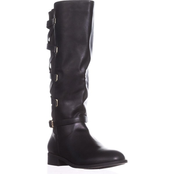 TS35 Veronika Wide Calf Riding Boots, Black