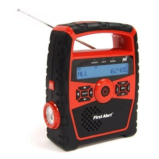 First Alert Portable AM/FM Weather Clock Radio w/Alert - SFA1180