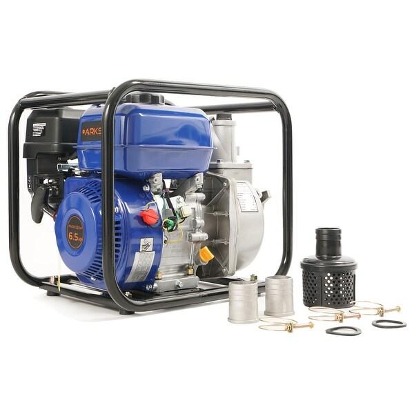 "Arksen 6.5 HP 2"" Gas Power Semi Trash Water Pump Drain 132GPM Flood Irrigation, 4-Stroke"