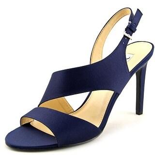 Nina Consula Women Open-Toe Canvas Slingback Heel