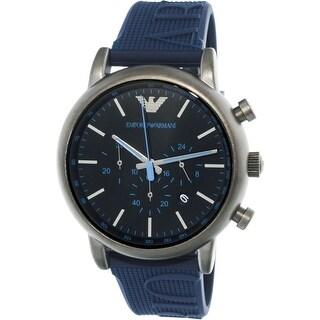 Emporio Armani Men's Blue Silicone Analog Quartz Dress Watch