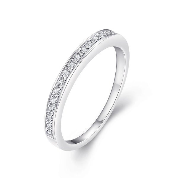 White Gold Plated Middi Ring