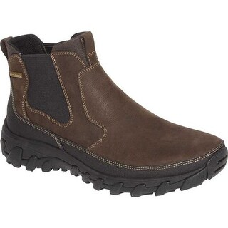 Rockport Men's Cold Springs Plus Chelsea Boot Dark Brown Leather