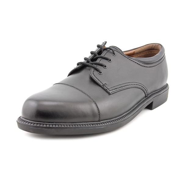 40d9d6e74fa Shop Dockers Gordon Men Cap Toe Leather Black Oxford - Free Shipping ...