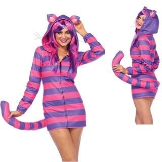 Womens Sexy Cozy Cheshire Cat Halloween Costume