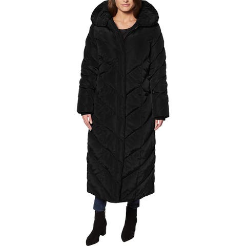 Steve Madden Long Puffer Coat for Women- Fleece Lined Warm Winter Maxi Coat