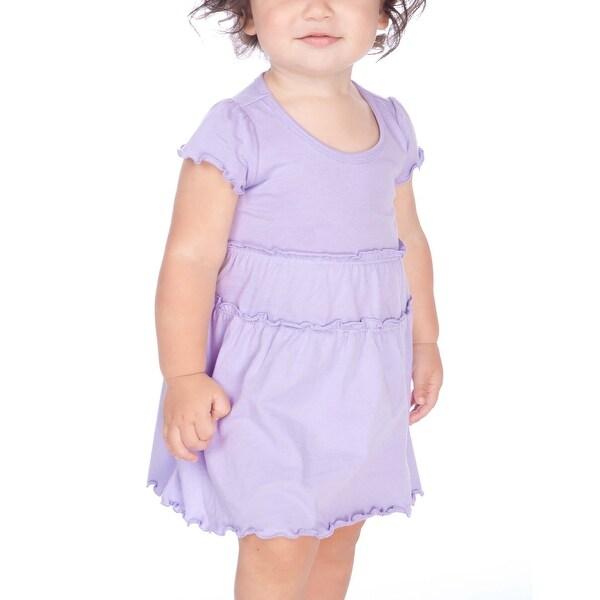 Kavio! Infants Tiered Lettuce Edge Dress