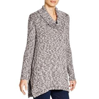 Splendid Womens Tunic Sweater Cowl-Neck Marled