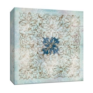 "PTM Images 9-146814  PTM Canvas Collection 12"" x 12"" - ""Medallion II"" Giclee Flowers Art Print on Canvas"