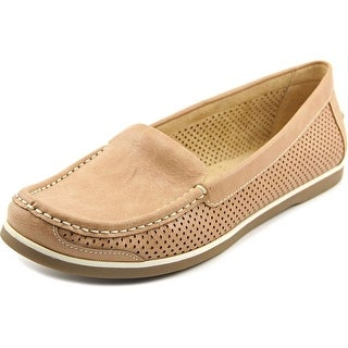 Naturalizer Henrick Women Round Toe Synthetic Tan Loafer