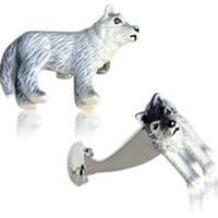 Painted Wolf Cufflinks Animal