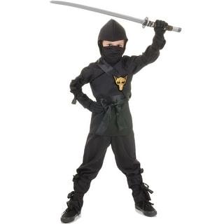 Underwraps Secret Ninja Child Costume (Black) - Solid