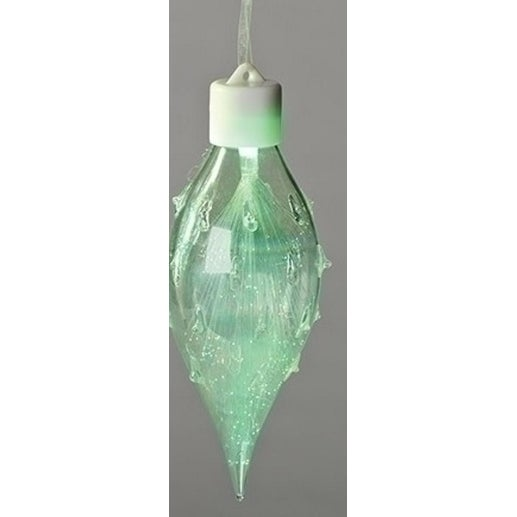 """6.5"""" Fiber Optic Multi- Colored LED Iridescent Glass Christmas Finial Ornament - multi"""