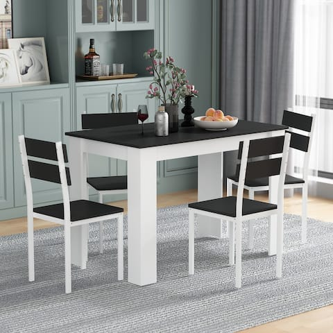 5-PICES Dining Table Set For 4-person
