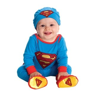 Rubies DC Super Friends Superman Bodysuit Infant Costume - Blue - 6-12