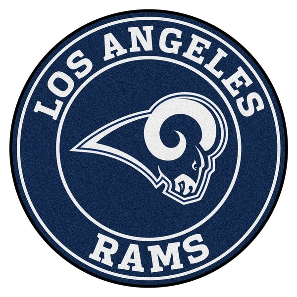 Shop NFL Los Angeles Rams Rounded Non-Skid Mat Area Rug - Free ... 3dccc58de27
