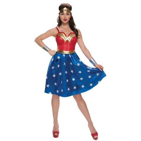 Adult Deluxe Long Dress Wonder Woman Costume