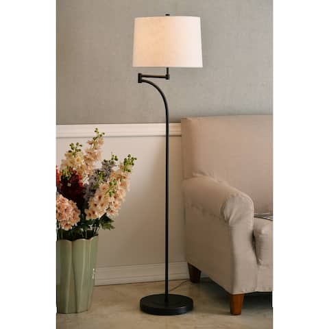 Siete 59 Inch Swing Arm Oil Rubbed Bronze Floor Lamp