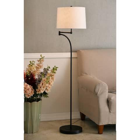 Siete 59 Inch Swing Arm Oil Rubbed Bronze Floor Lamp
