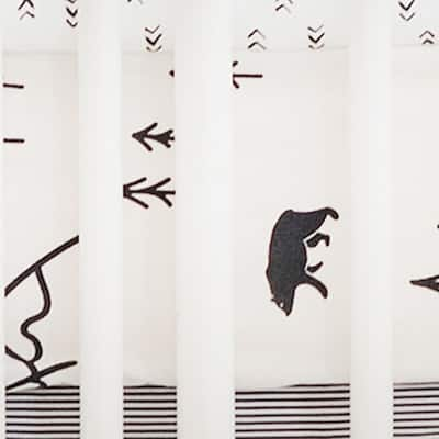 Little Black Bear Crib Sheet