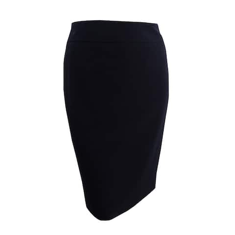 Nine West Women's Plus Size Crepe Skirt - Black