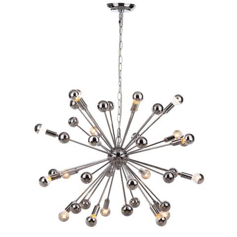 """SAFAVIEH Lighting Starburst Sputnik 20-light Chrome Chandelier - 31""""x31""""x22-94"""""""