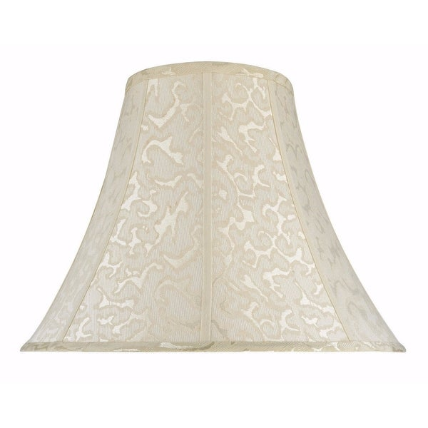 "Aspen Creative Bell Shape Spider Construction Lamp Shade in Off White (8"" x 18"" x 14""). Opens flyout."
